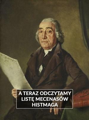 "Ilustracja w tle: obraz Wybranda Hendriksa ""Portret Jacoba Van der Vos"""