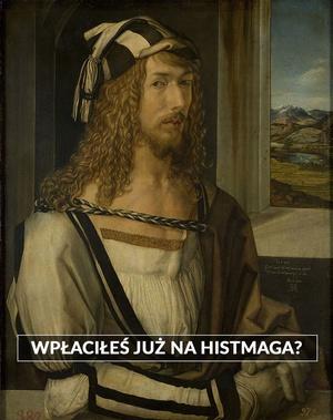 """Ilustracja w tle: obraz Albrechta Dürera """"Autoportret"""""""