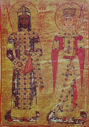 Portret cesarza Manuela I Komnena i Marii z Antiochii (domena publiczna).