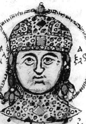 Piętnastowieczne przedstawienie cesarza Aleksego II Komnena (domena publiczna).