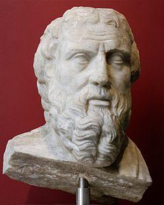 Historia: Rzeźba przedstawiająca Herodota, uważanego przez Cycerona za ojca historii (domena publiczna)