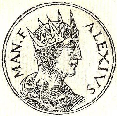 Guillaume Rouillé, Promptuarii Iconum Insigniorum (1553) – Szesnastowieczne przedstawienie cesarza Aleksego II Komnena (domena publiczna).