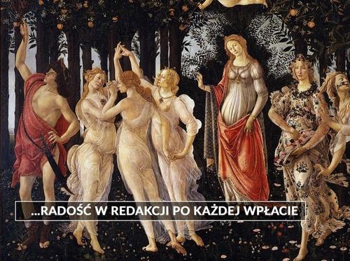"""Ilustracja w tle: obraz Sandro Botticellego """"Wiosna"""""""