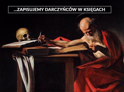 """Ilustracja w tle: obraz Caravaggia """"Święty Hieronim"""""""