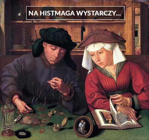 "Ilustracja w tle: obraz Quentina Matsysa ""Bankier z żoną"""