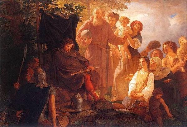 Władysław Łokietek na wygnaniu (obraz Wojciecha Gersona)