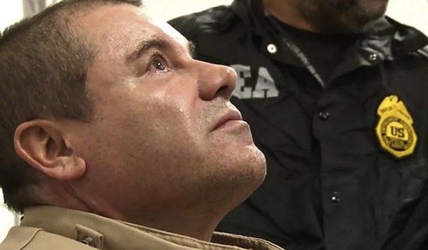 """""""El Chapo"""" po ekstradycji do USA (fot. DEA, domena publiczna)"""