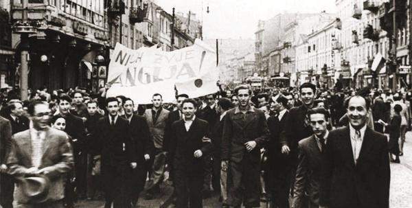 Manifestacja pod ambasadą brytyjską w Warszawie, 3 września 1939 roku