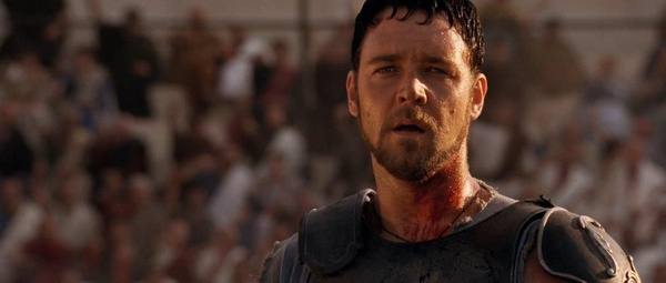 "Russel Crowe jako Maximus w filmie ""Gladiator"" (fot. Totorosan1; prawa zastrzeżone)"
