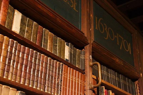 Historia: Zbiór książek z kolekcji Hendrik Conscience Heritage Library w Antwerpii (fot. Joel.clippeleyr, udostępniono na licencji: [CC-BY-SA-4.0](https://creativecommons.org/licenses/by-sa/4.0/deed.en))