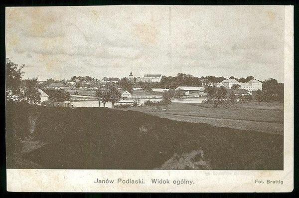 Widok na Janów Podlaski, koniec lat trzydziestych XX wieku