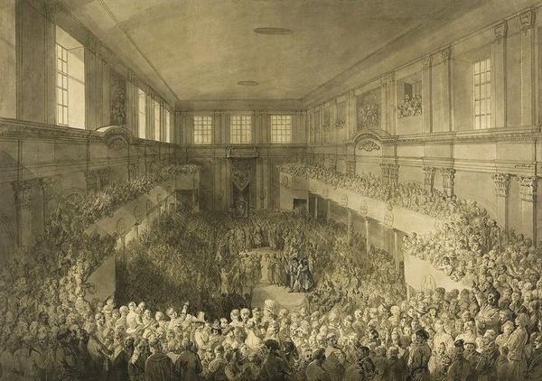 Zaprzysiężenie Konstytucji 3 maja, 1791. Obraz Jana Piotra Norblina (domena publiczna).