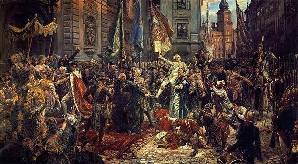 Jan Matejko, Konstytucja 3 maja 1791 roku (domena publiczna).