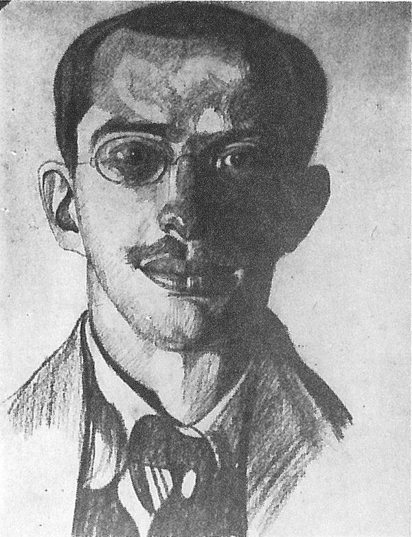Bronisław Malinowski na portrecie autorstwa Witkacego (ok. 1912 roku)