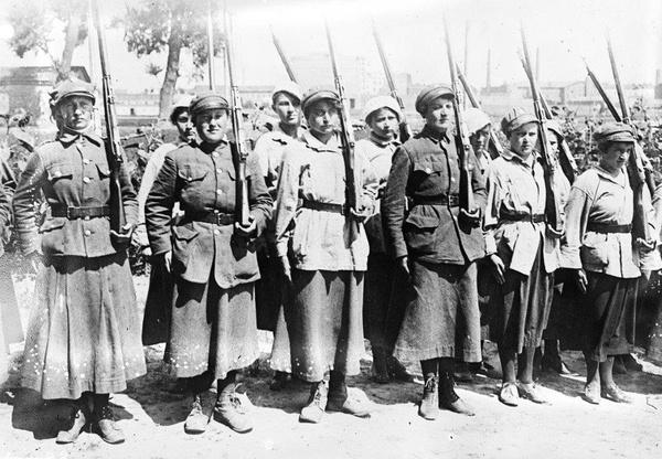 Członkinie Ochotniczej Legii Kobiet w czasie wojny polsko-bolszewickiej w 1920