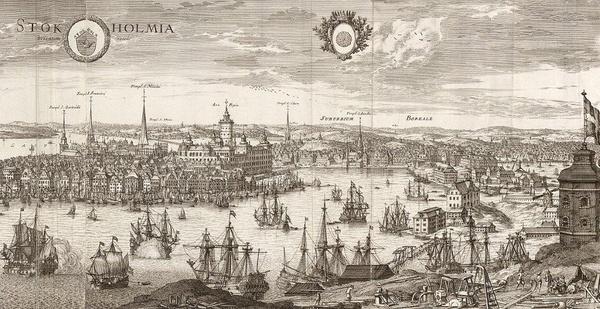 Sztokholm na mapie z 1693 roku