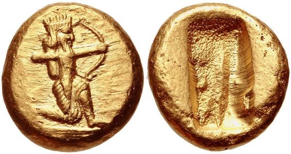 Perskie monety z okresu ok. 505-480 p.n.e., fot. CNG, na licencji [CC BY-SA 3.0](https://creativecommons.org/licenses/by-sa/3.0/deed.pl)