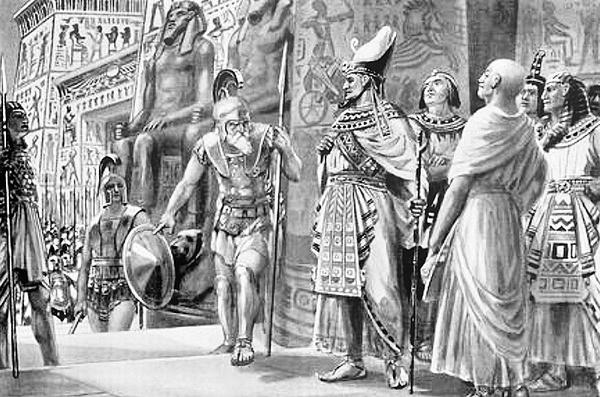 Agesilaos na służbie u faraona, aut. Edmund Ollier, domena publiczna