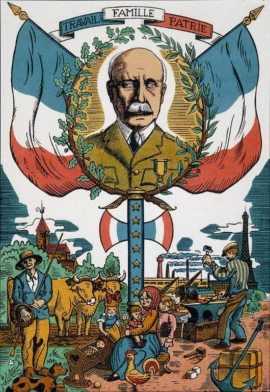 "Plakat propagandowy rządu Vichy promujący ""Révolution nationale"""
