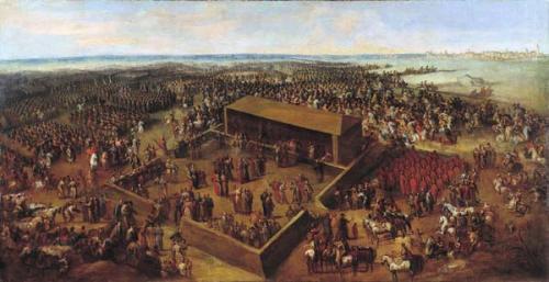 Elekcja Wettina na władcę Rzeczypospolitej, obraz Jana Piotra Norblina, domena publiczna