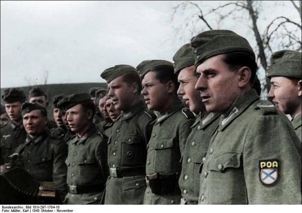 Żołnierze ROA we Francji 1944 r. (fot. Karl Müller, Bundesarchiv, udostępniono na licencji: [CC BY-SA 4.0](https://creativecommons.org/licenses/by-sa/4.0/deed.pl))