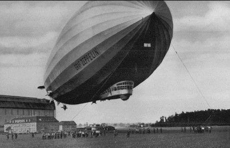 Graf Zeppelin, napełniany wodorem (domena publiczna)