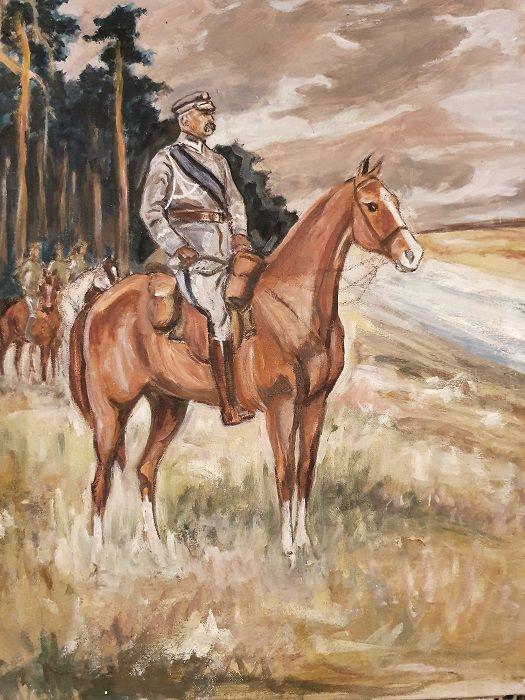 """Konie były jego ulubionym tematem malarskim. Wspaniale też potrafił kopiować Wojciecha Kossaka (fot. Archiwum rodzinne Pietrzykowskich, zdjęcia wykorzystanie w książce """"MISTRZ, Tadeusz TEDDY Pietrzykowski"""", Eleonory Szafran)"""