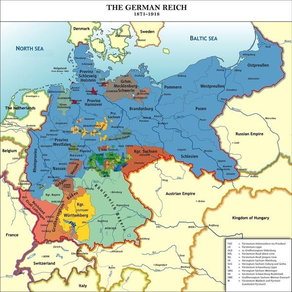 Zjednoczona Rzesza Niemiecka 1871–1918, rys. kgberger & Wiggy!, na licencji [CC BY-SA 3.0](http://creativecommons.org/licenses/by-sa/3.0/deed.pl)