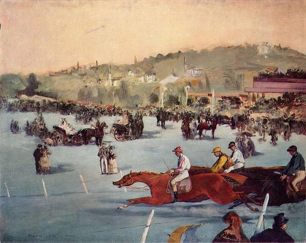 Jeźdźcy w Lasku Bulońskim. Édouard Manet, 1864 (domena publiczna)