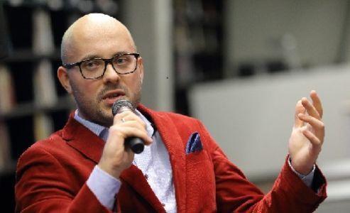 Michał Przeperski w trakcie spotkania autorskiego (fot. G. Mehring / Archiwum ECS)