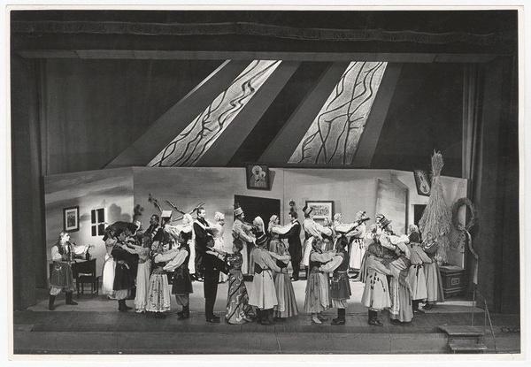 """Franciszek Myszkowski, """"Wesele"""", 1956, reż. Bronisław Dąbrowski, Teatr im. Juliusza Słowackiego w Krakowie"""