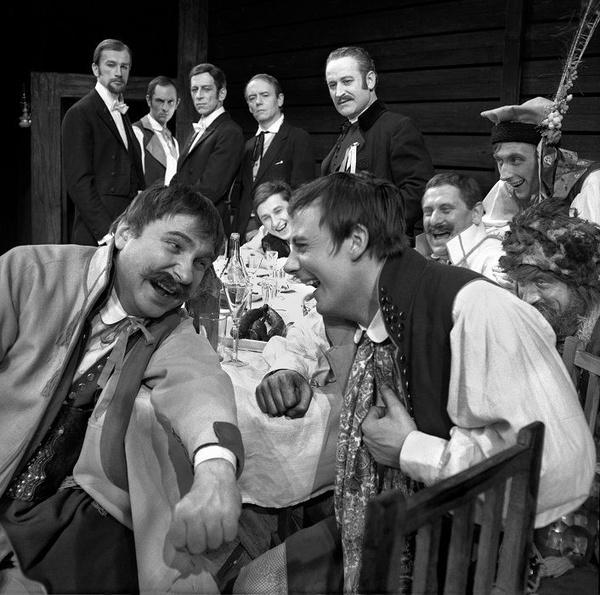 """Wojciech Plewiński, """"Wesele"""", 1969, reż. Lidia Zamkow, Teatr im. Juliusza Słowackiego"""