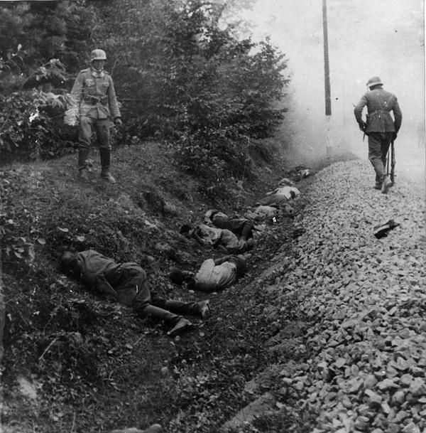 Zbrodnia w Ciepielowie, gdzie Wehrmacht rozstrzelał 300 polskich jeńców wojennych (domena publiczna)
